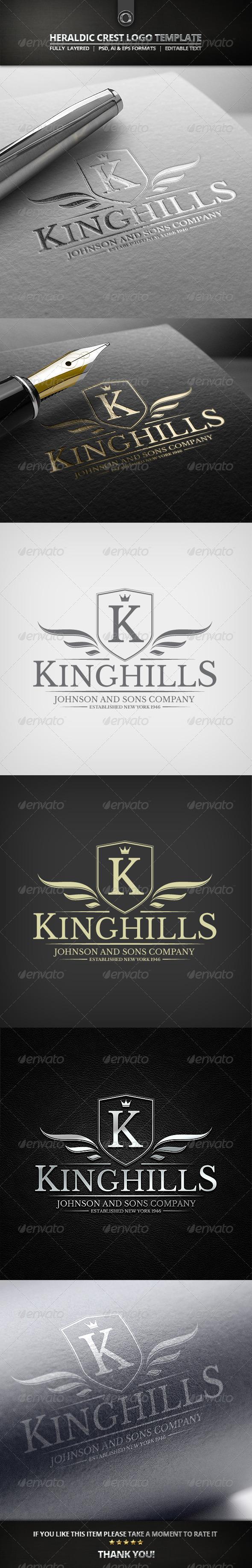 GraphicRiver Heraldic Crest Logo Template 7675849