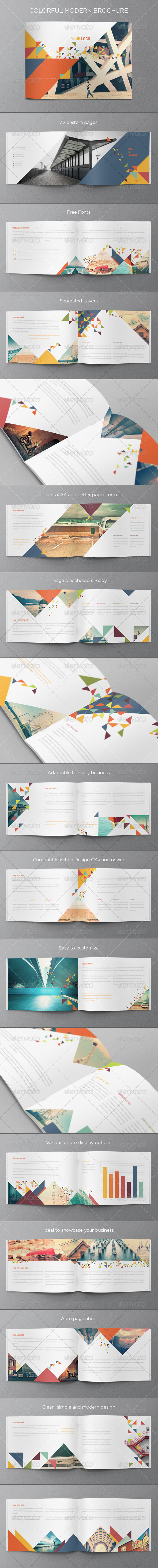 GraphicRiver Colorful Modern Brochure 7675852