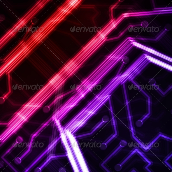 GraphicRiver Neon Circuit Board 7675874