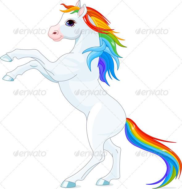 GraphicRiver Rainbow Horse 7676116