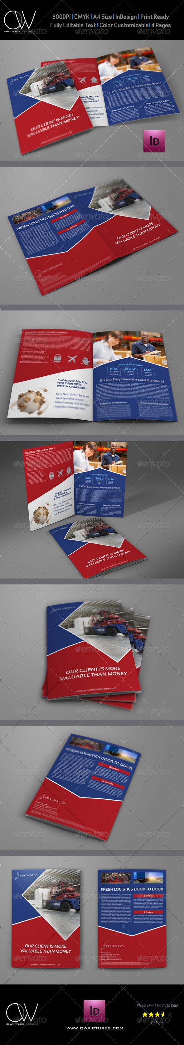 GraphicRiver Logistic Company Brochure Bi Fold Template Vol.3 7676418