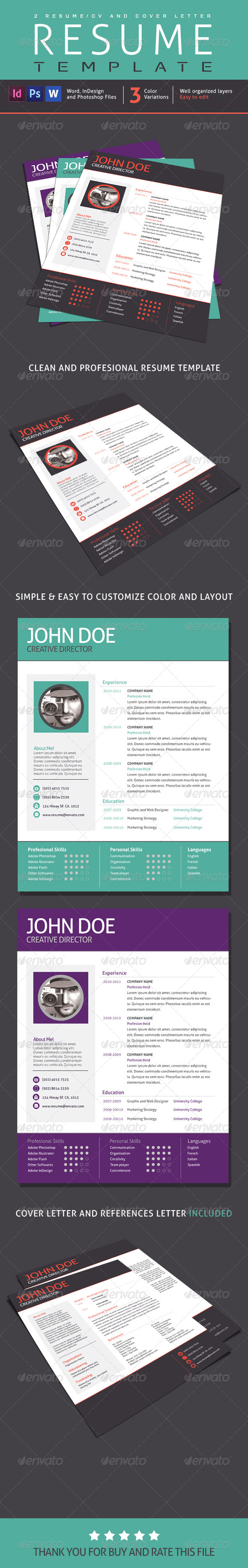 GraphicRiver 2 Resume Designs 1 Cover Letter V01 7662784