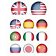 Language Buttons - Collection of Flags Icons - GraphicRiver Item for Sale