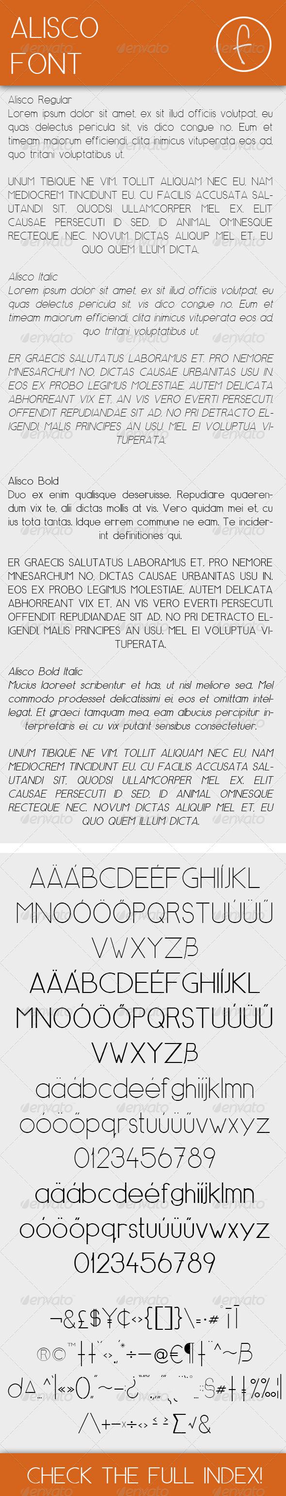 GraphicRiver Alisco Font 7677133