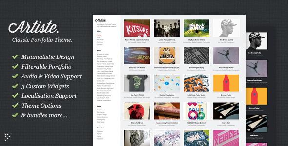 Artiste: Professional Portfolio WordPress Theme - ThemeForest Item for Sale
