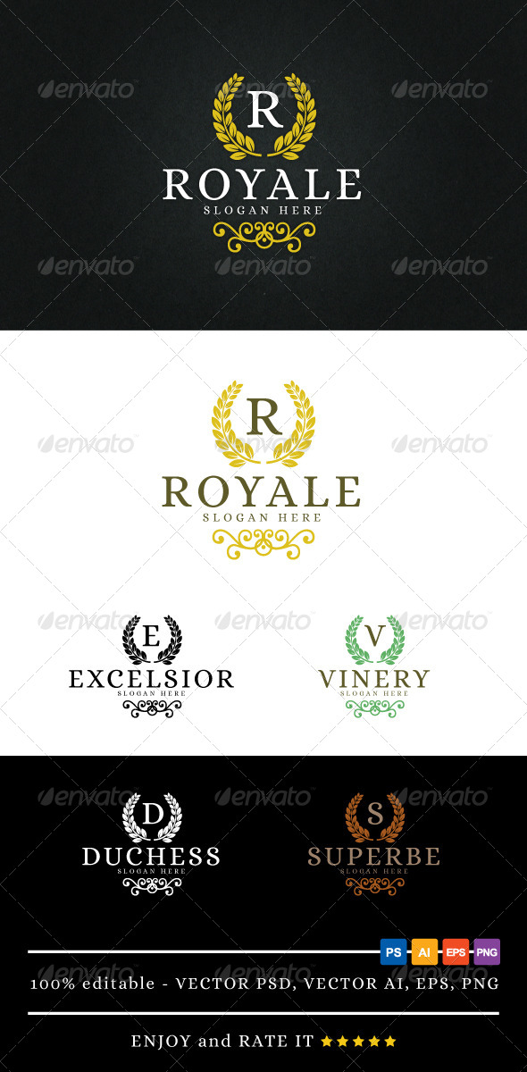 Royale - Logo Template - Letters Logo Templates
