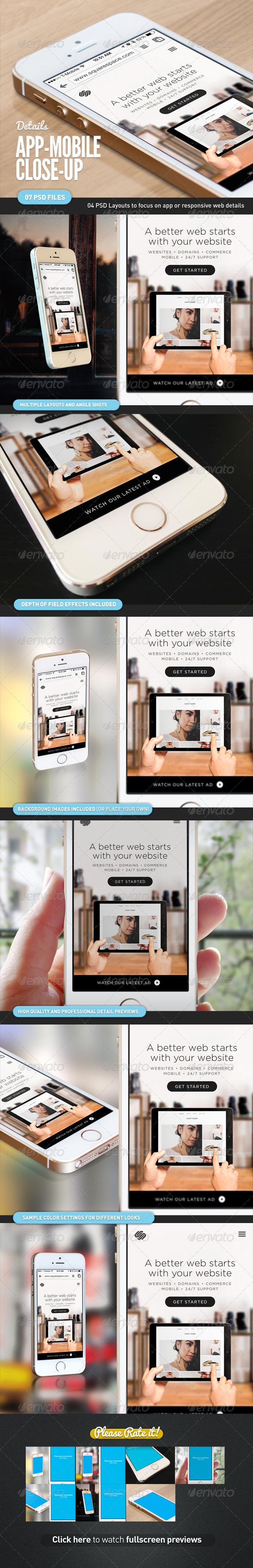 GraphicRiver App UI Close-Up Mock-Up 5s White 7677542