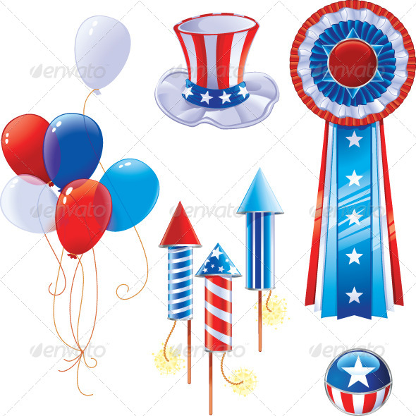 GraphicRiver Fourth of July Symbols 7677541