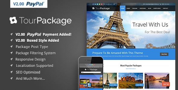 Tour Package - WordPress Travel/Tour Theme - Travel Retail