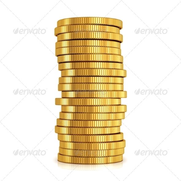GraphicRiver Gold coins 7677670