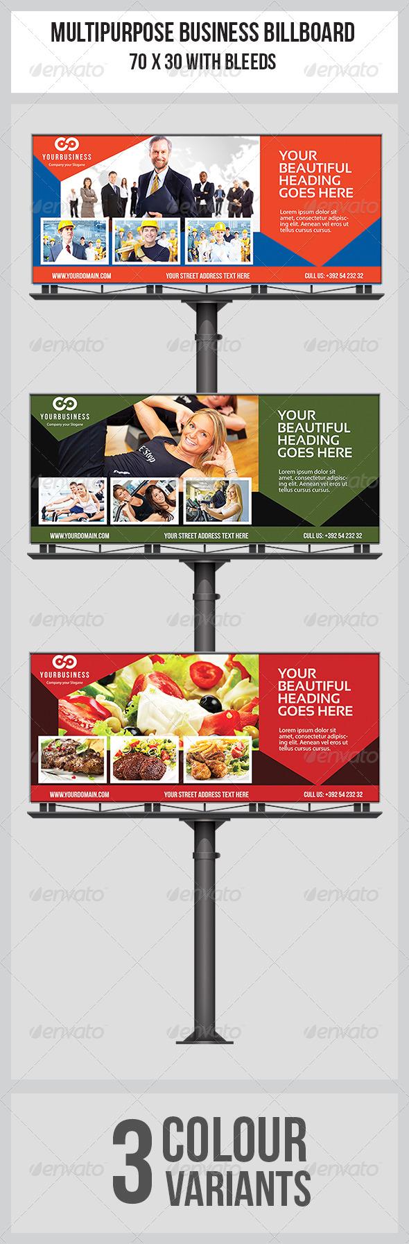 GraphicRiver Multipurpose Business Billboard Template 7677773