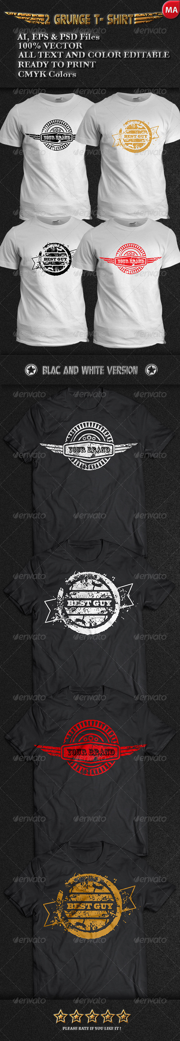 GraphicRiver 2 Grunge T-Shirt 7678196