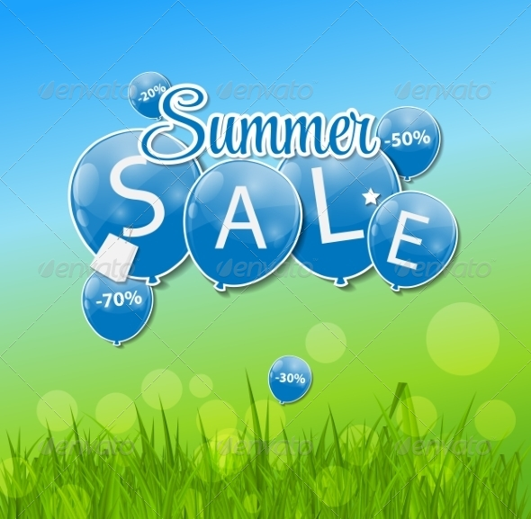 GraphicRiver Summer Sale Concept 7678214