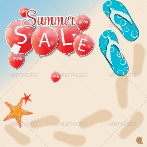 GraphicRiver Summer Sale Concept 7678228