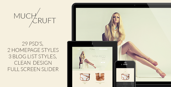 ThemeForest Much & Cruft Fashion Shop and Blog 7678339