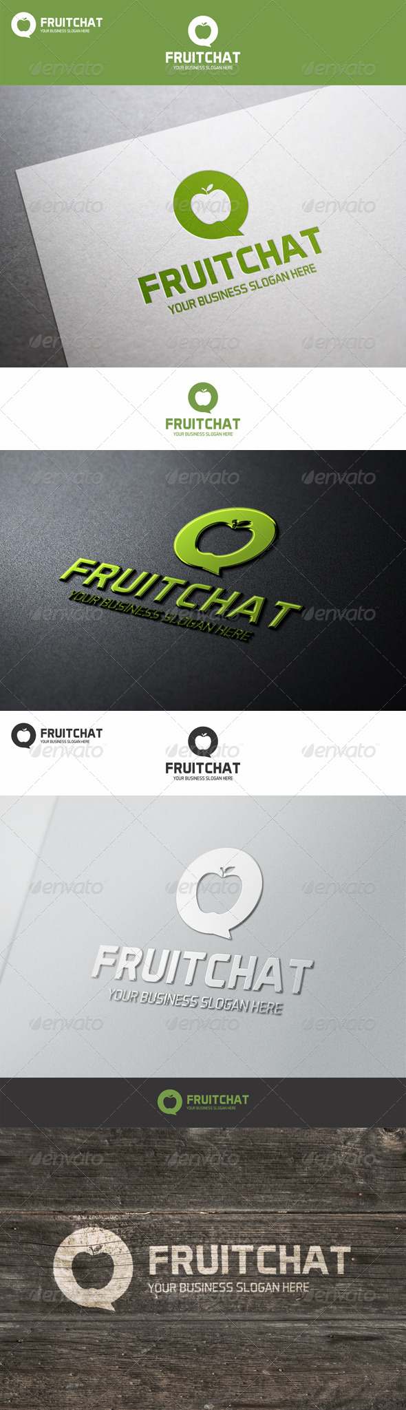Fruit Chat Talk Logo - Nature Logo Templates