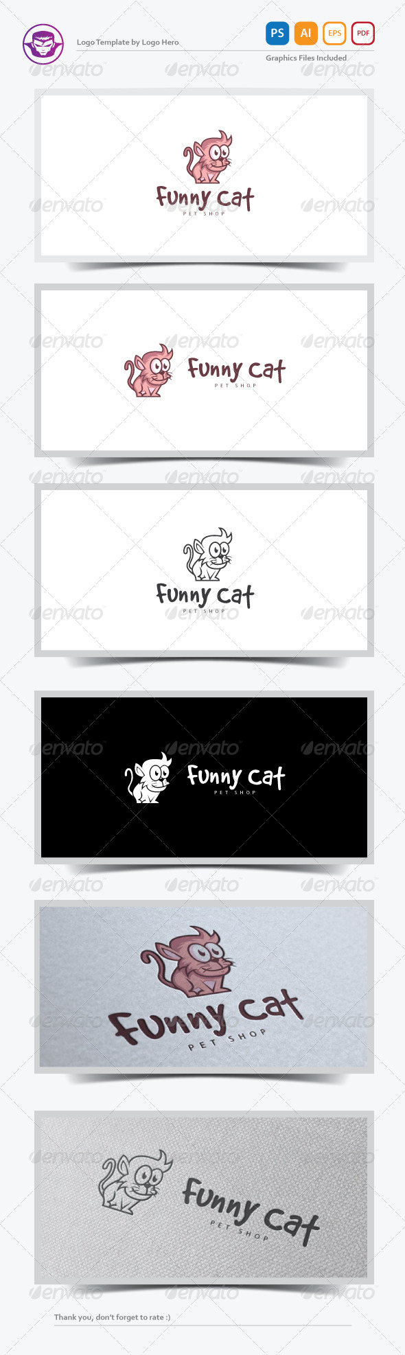 GraphicRiver Funny Cat Logo Template 7678624