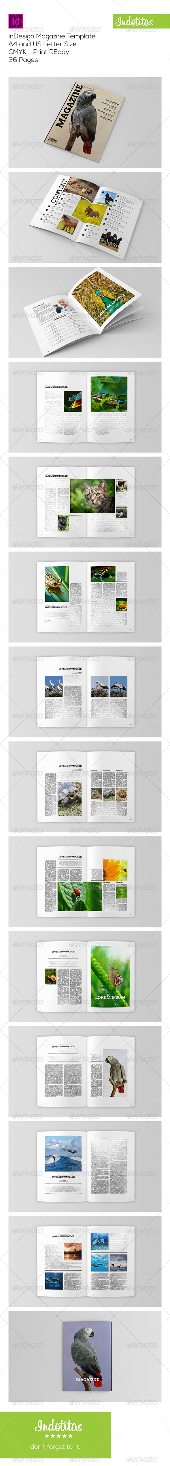 GraphicRiver Animal Magazine Template 7678687