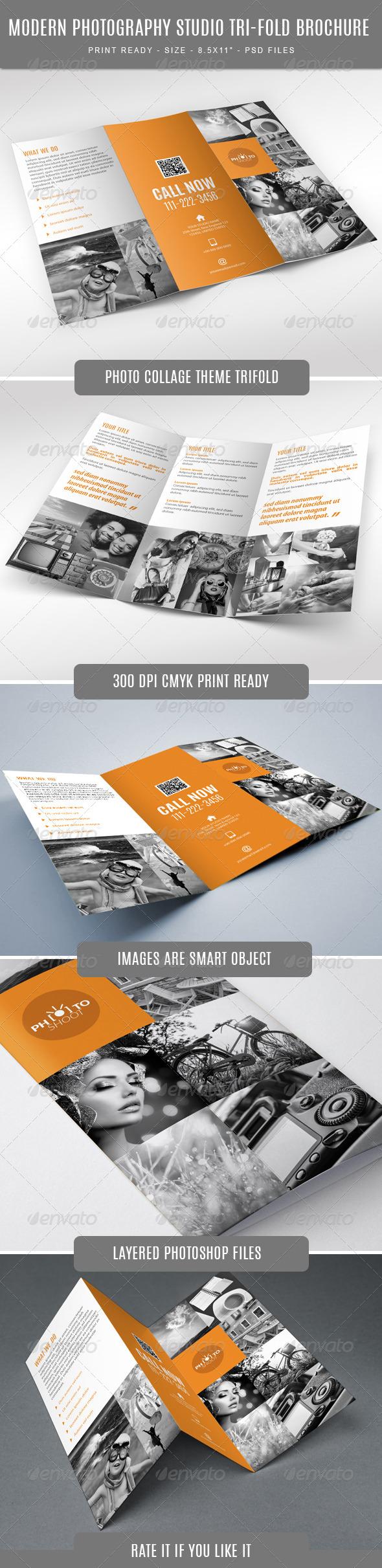 GraphicRiver Photography Studio Tri-Fold 7678747