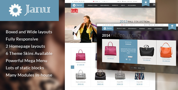 Janu - Responsive Multipurpose Magento Theme - Shopping Magento