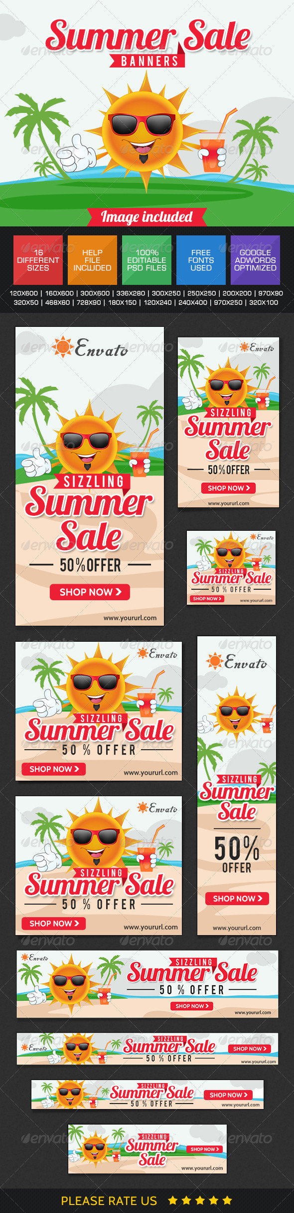 GraphicRiver Summer Sale Banners 7678939