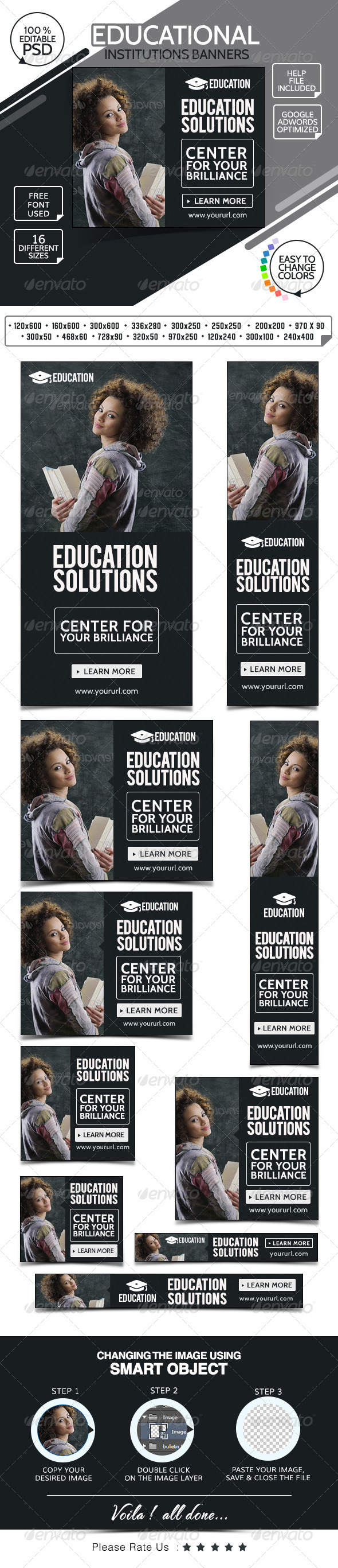 GraphicRiver College & Education Banners 7678986