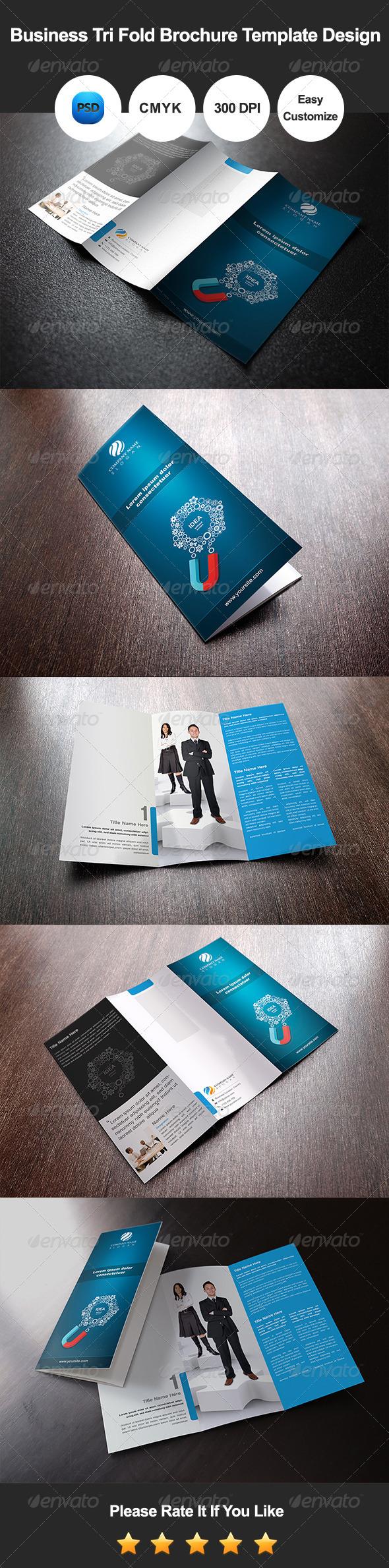 GraphicRiver Business Tri Fold Brochure Template Design 7679021