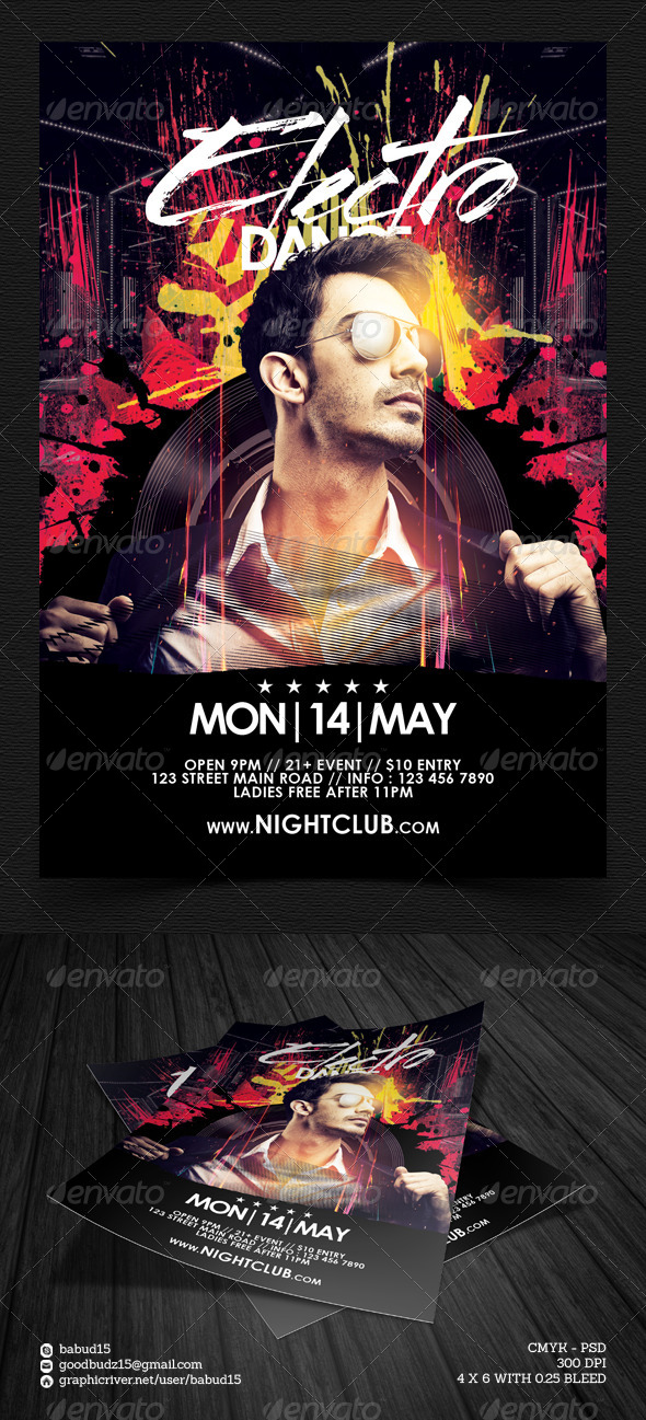 GraphicRiver Electro Dance Vol 2 Flyer Template 7679075