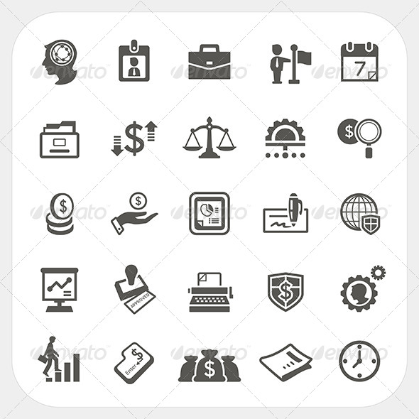 GraphicRiver Business and Finance Icons Set 7679077