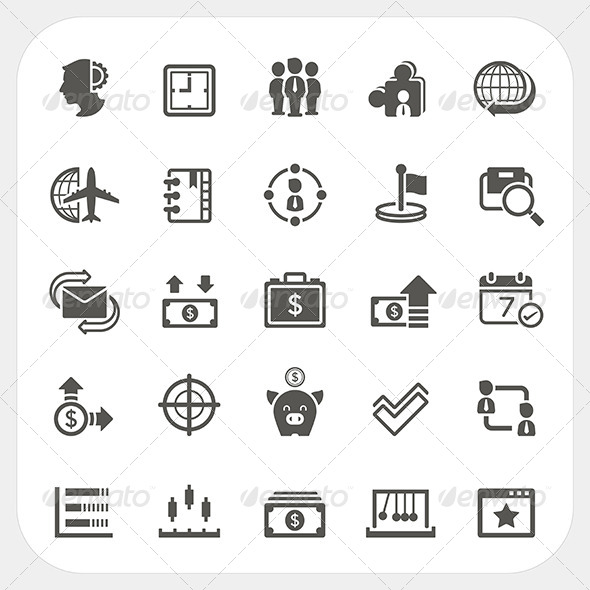 GraphicRiver Business and Finance Icons Set 7679119