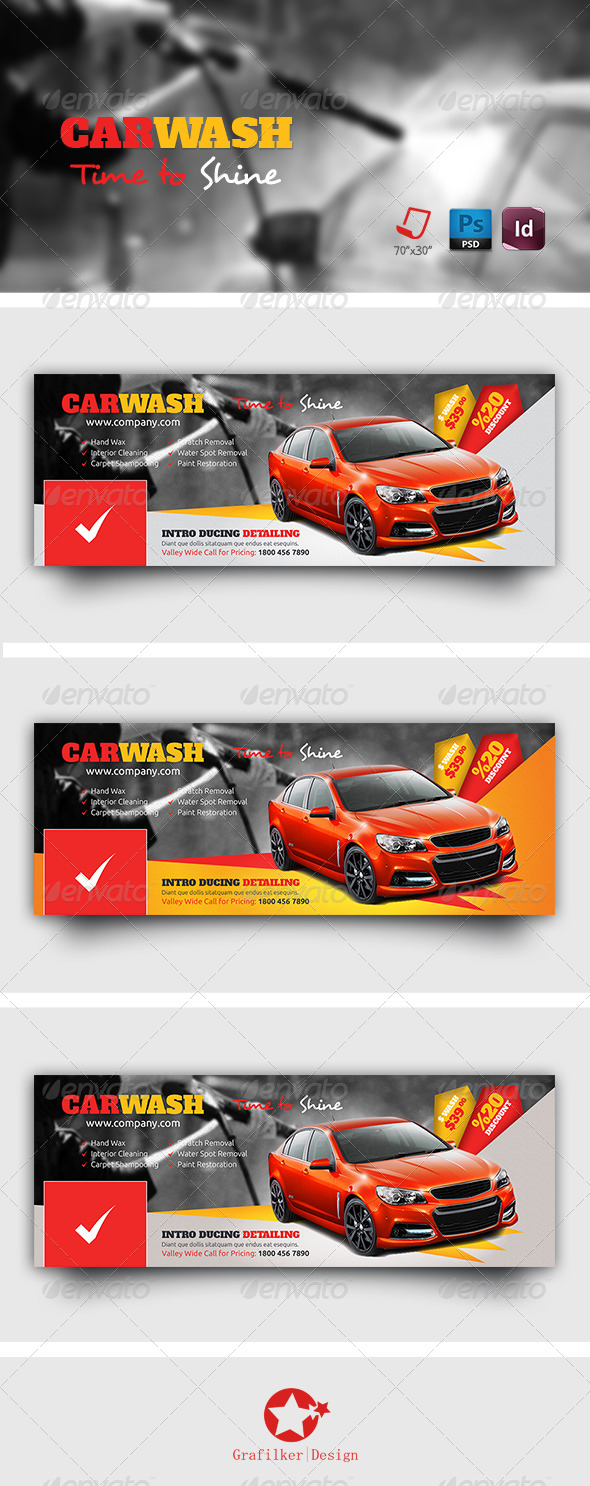 GraphicRiver Car Wash Timeline Templates 7679126
