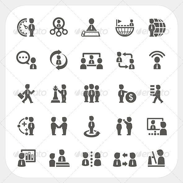 GraphicRiver Management and Business Icons Set 7679127
