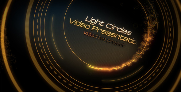 After Effects Project - VideoHive Light Circles 785984