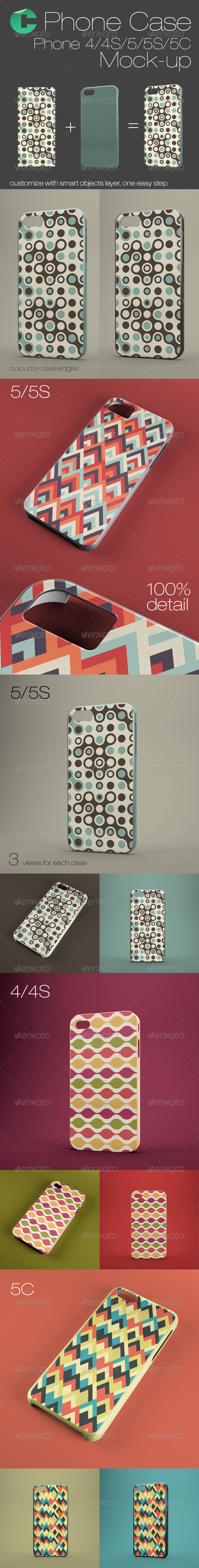 GraphicRiver Phone case mock-up Phone 4 4S 5 5S 5C 7679477