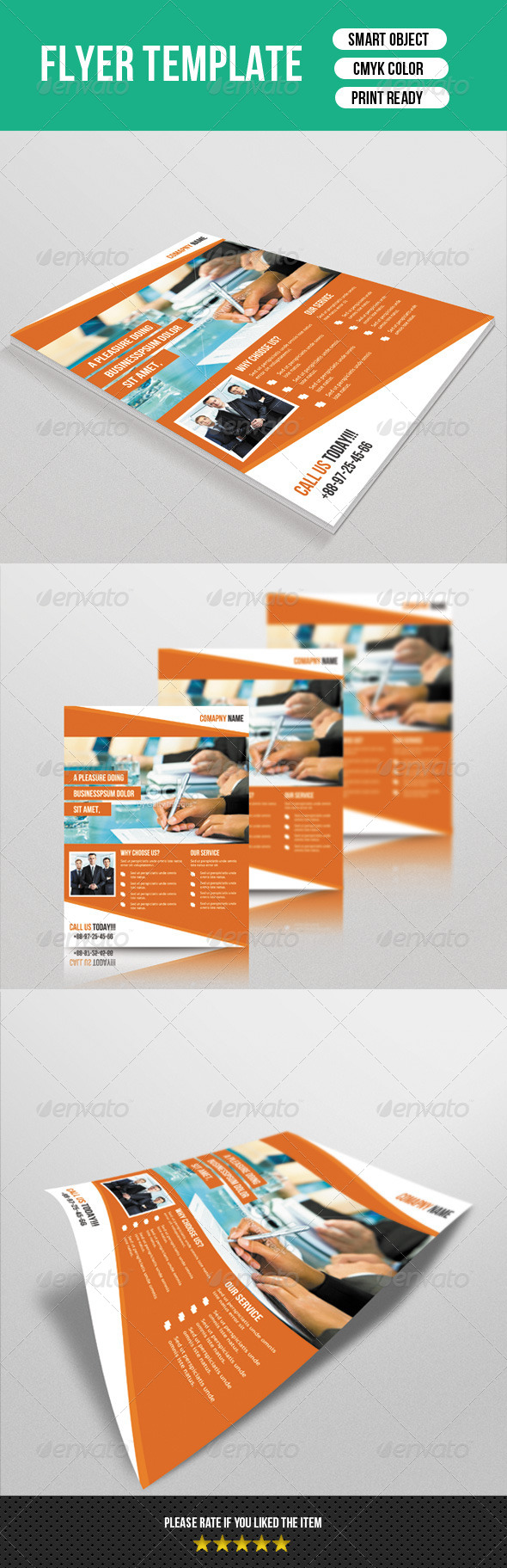 GraphicRiver Corporate Flyer Template 7679476