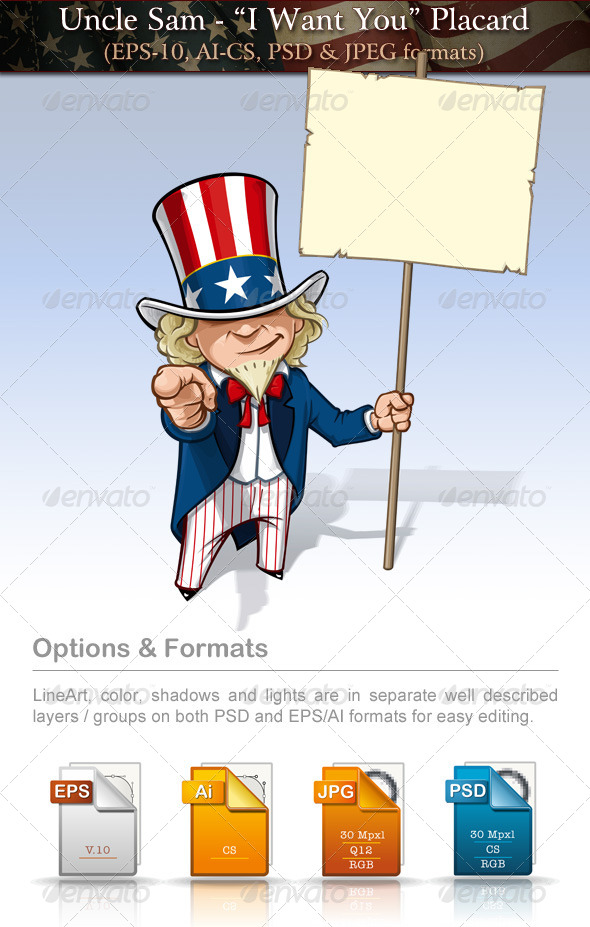 GraphicRiver Uncle Sam I Want You Placard 7680011
