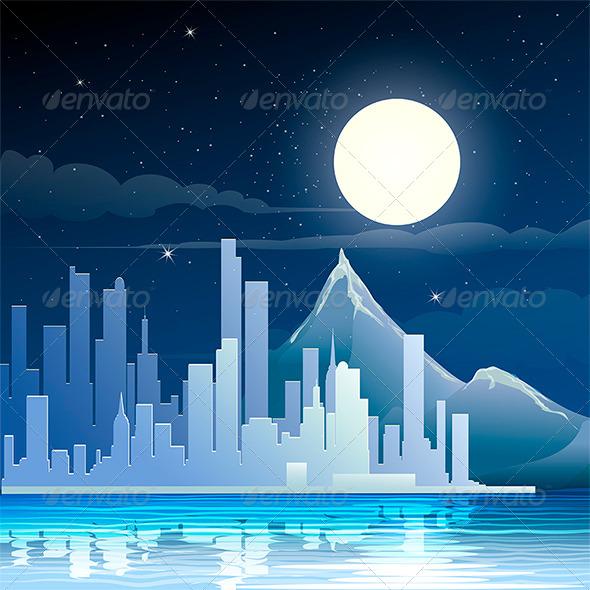 GraphicRiver Midnight landscape 7680065