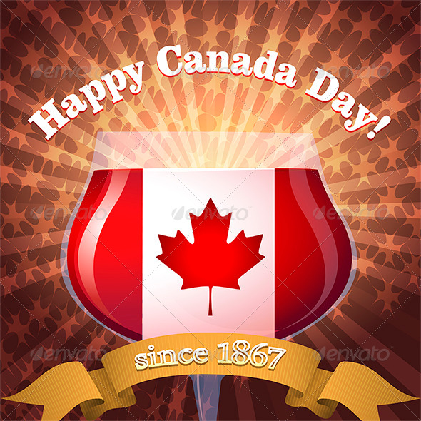 GraphicRiver Canada Day Goblet 7680123