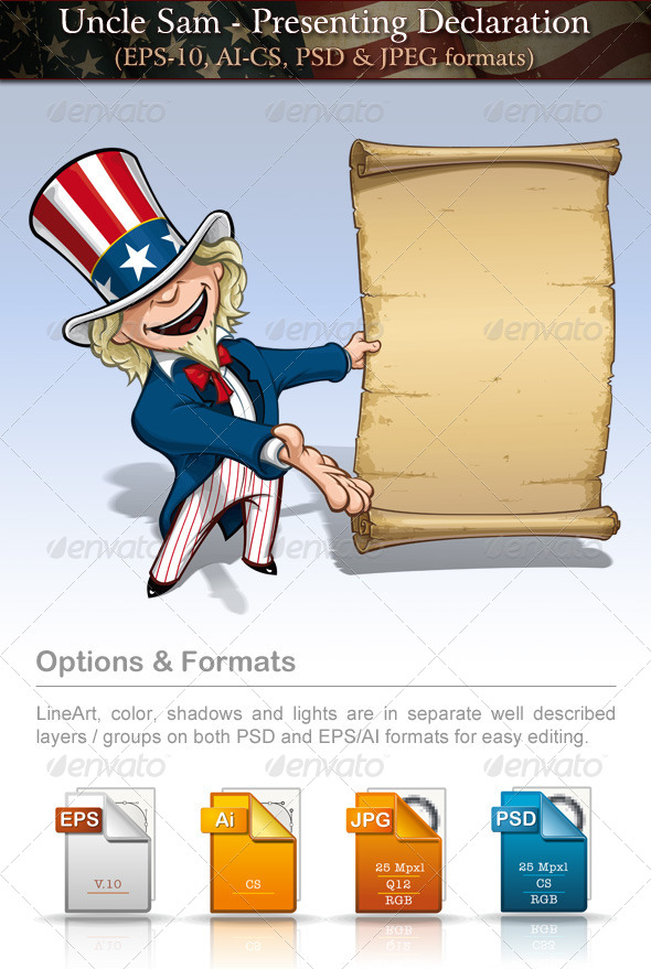 GraphicRiver Uncle Sam Presenting Declaration 7680132