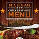 Buffalo Wings Menu Flyer - GraphicRiver Item for Sale