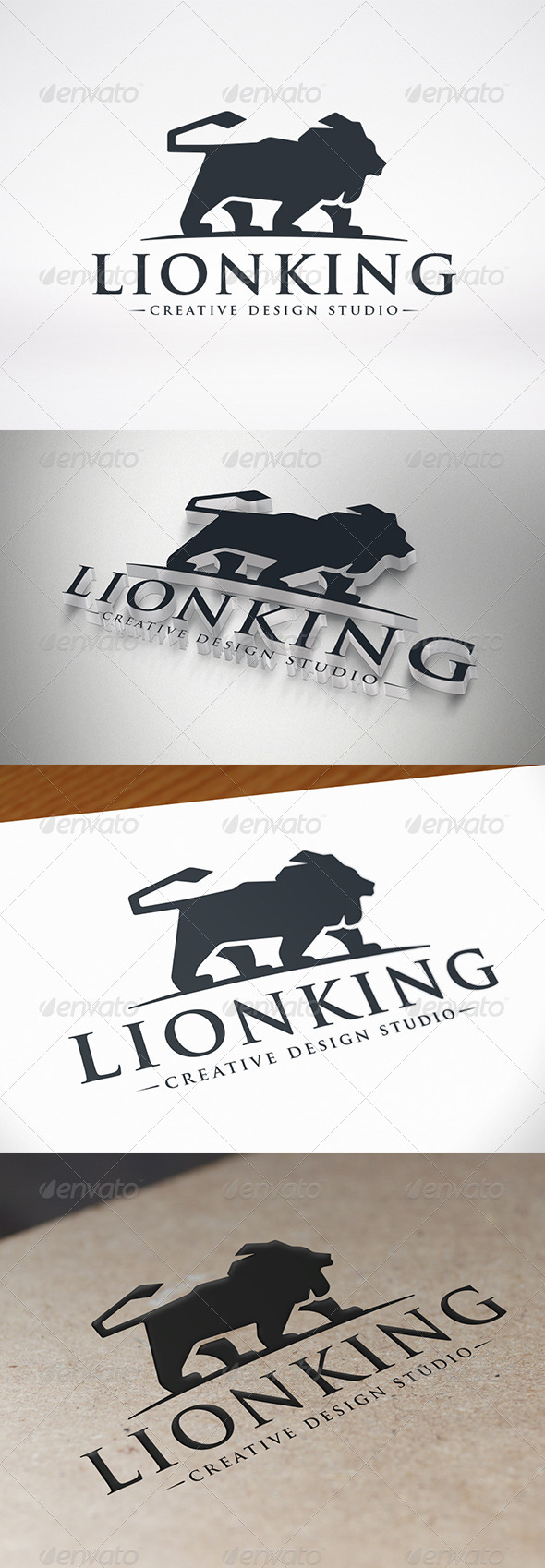 GraphicRiver Lion Logo Template 7680268