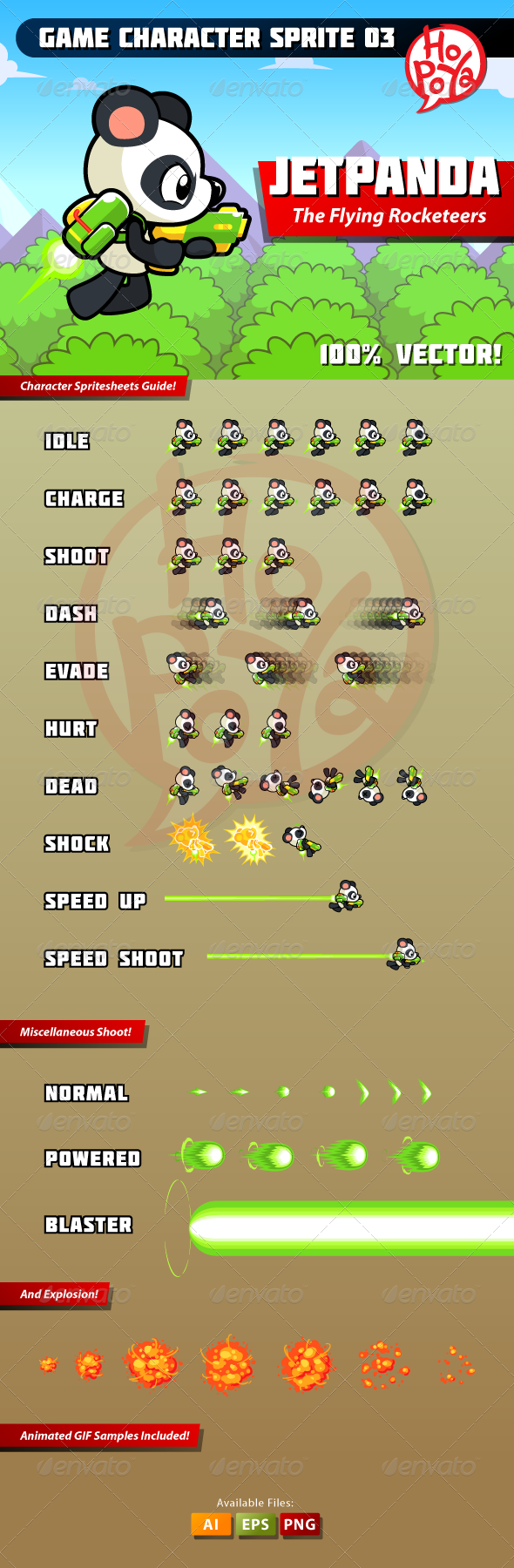 GraphicRiver Game Character Sprite 03 7680315