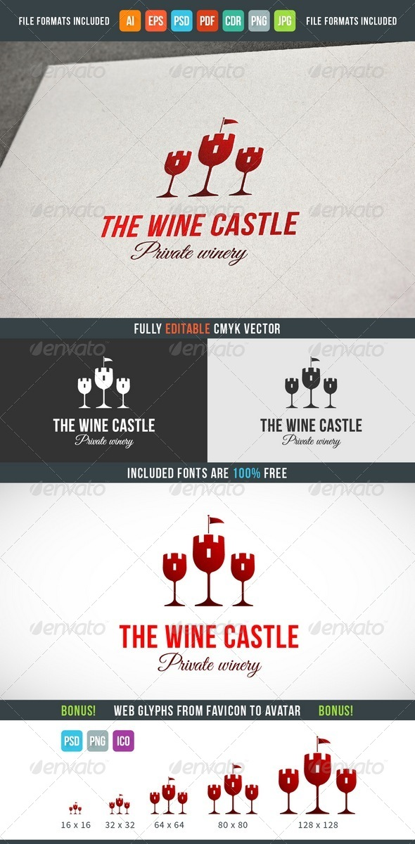 GraphicRiver Wine Castle Logo Template 7615003