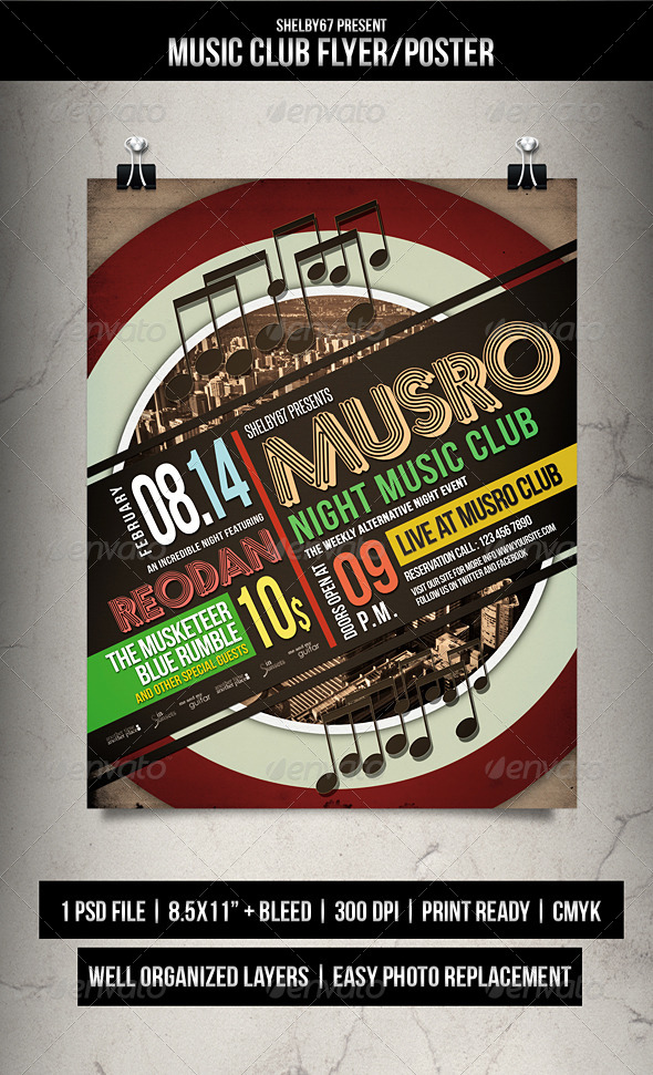 GraphicRiver Music Club Flyer Poster 7680740