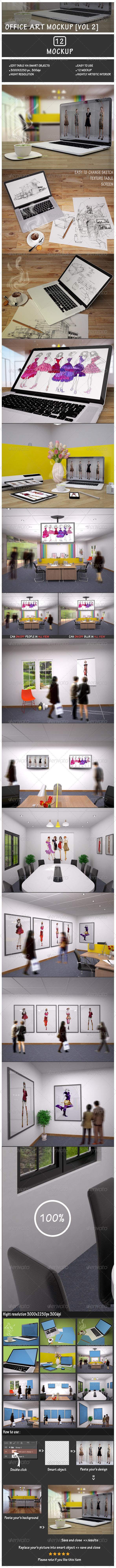 GraphicRiver Office Art Mockup Vol 2 7666993