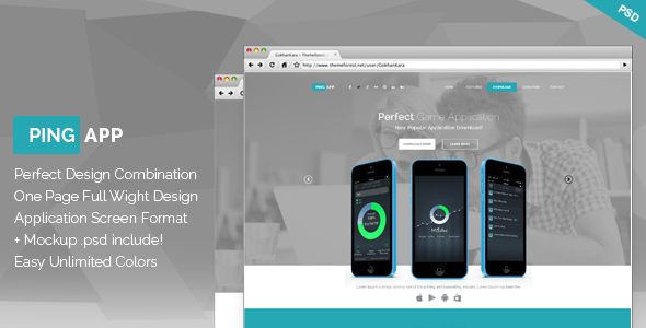 ThemeForest Ping App One Page App Landing Page 7631301
