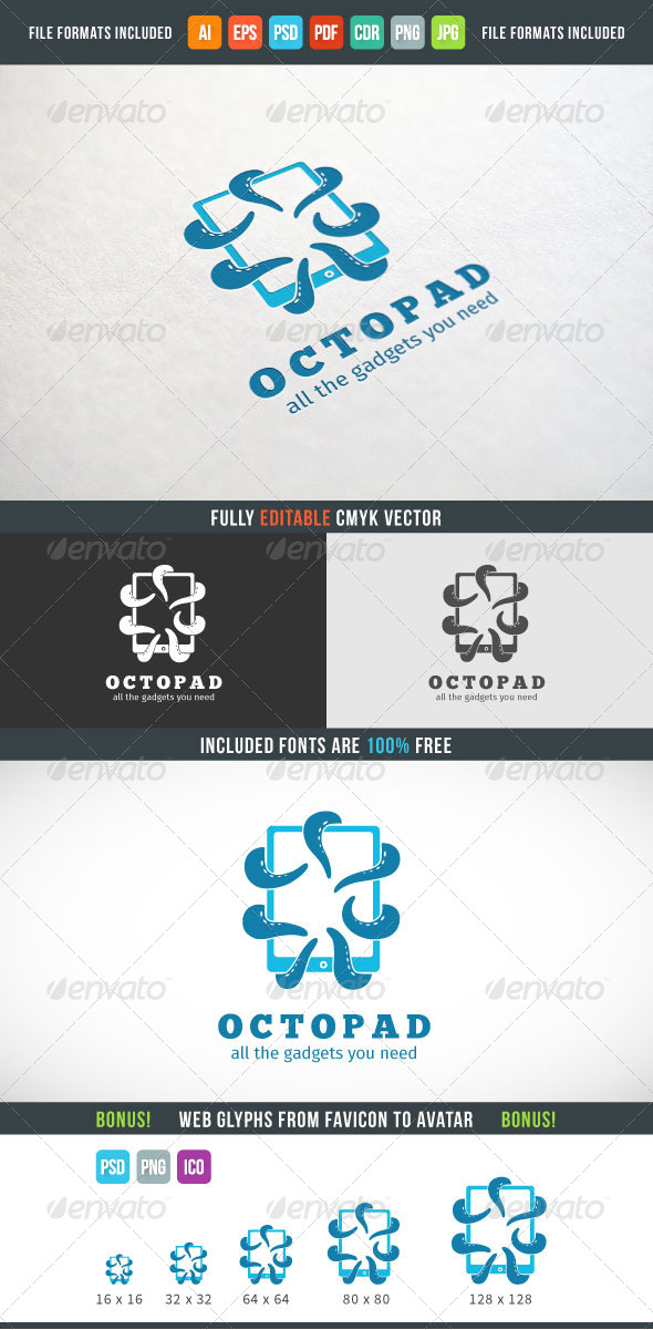 GraphicRiver Octopad Logo Template 7614929