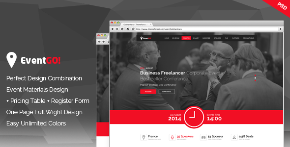 ThemeForest EventGo Onepage Event Landing Page 7680925