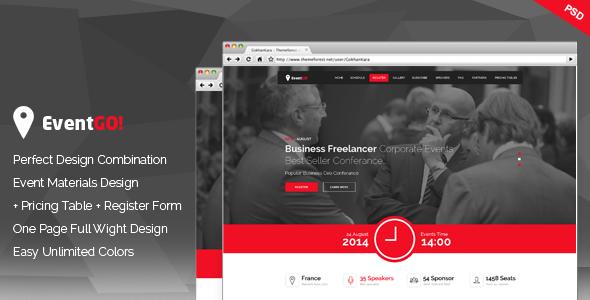 EventGo - Onepage Event Landing Page