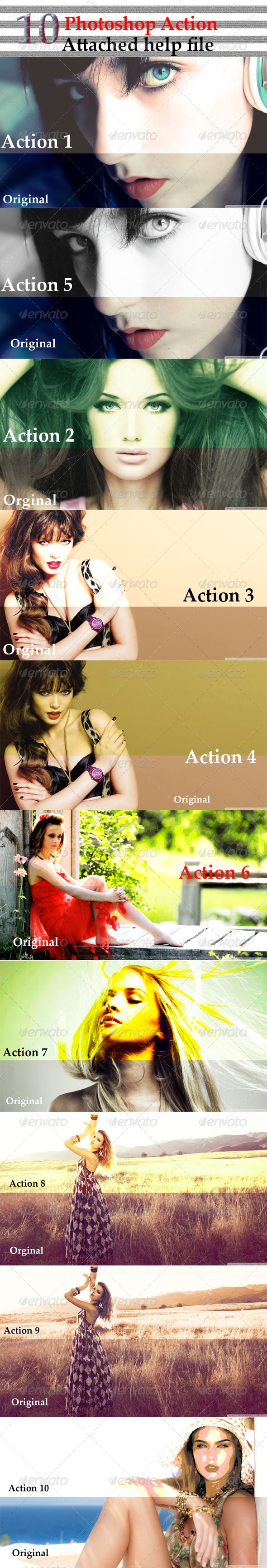 GraphicRiver 10 Photoshop Action 7680926